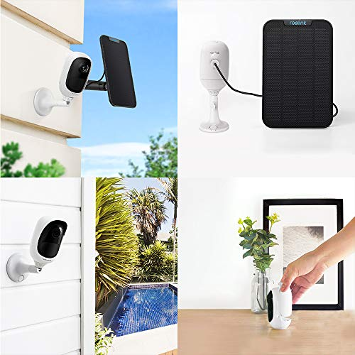 REOLINK Outdoor Security Camera Wireless Rechargeable Battery 1080P Home Surveillance Support Cloud Google Assistant Night Vision PIR Motion Detection SD Slot   Argus Pro with Solar Panel