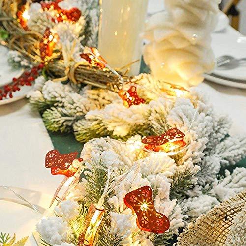 ZLININ 3M calcetines de la Navidad LED de la luz de hadas 30 de la cadena por la ventana de días festivos de la boda de la guirnalda DC5V USB Decoración Luz Fairytale