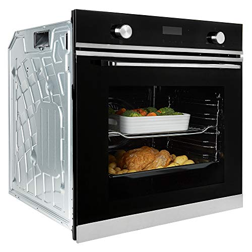 Cookology TOF620SS Multi Function Touch & Dial Control, Built-in, Electric Oven, 72L