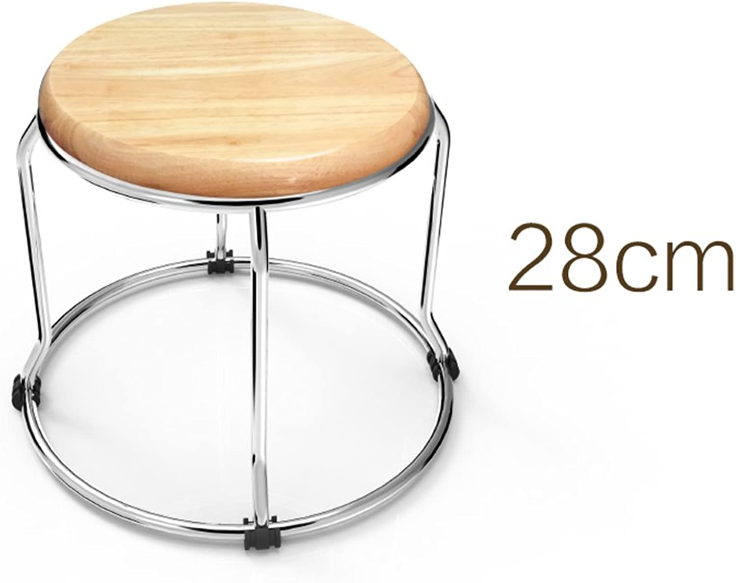 Stool Stainless Steel Round Size Optional Solid and Strong Meal Stool (Size   28cm)