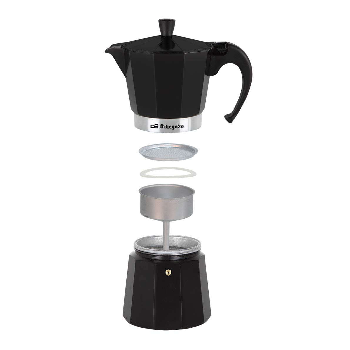 Orbegozo KFN310 KFN 310-Cafetera, 3 Tazas, Color, Aluminio, Negro: Amazon.es: Hogar