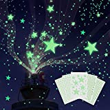 Glow in The Dark Stars for Ceiling, 849 Pcs 3D Shining Star Stickers for Wall Decors Ceiling Decals, Perfect for Kids Nursery Bedroom Decoration