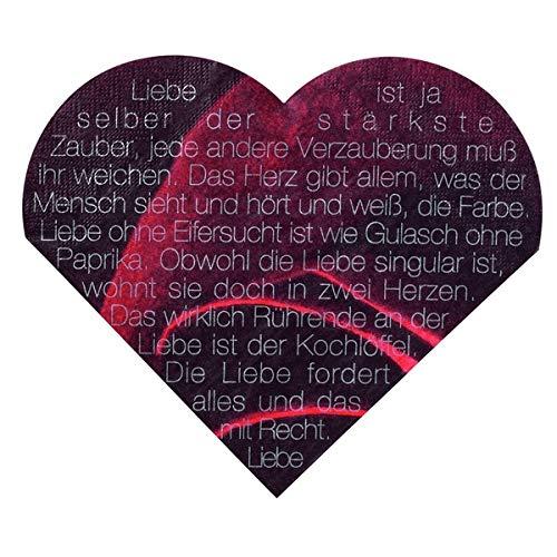 Love Edition Herzservietten Rose mit Schrift