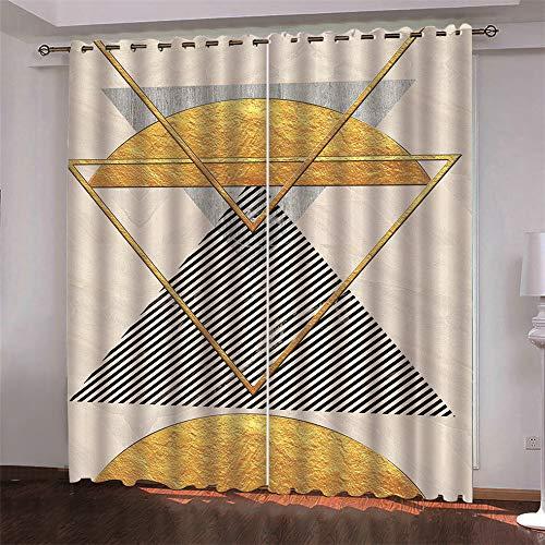 Cortinas Opacas 3D Cortinas De Microfibra Adecuado para Cortinas De Hoteles, Centros Comerciales Y Balcones Estilo Creativo Moderno