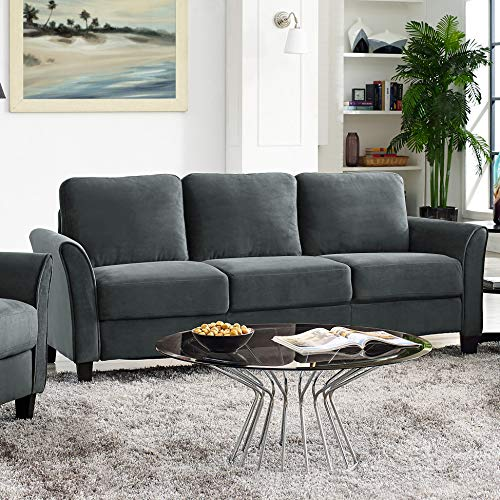 "Lifestyle Solutions Austin Sofas, 80.7"" W x 31.1"" D x 32.3"" H, Dark Grey"