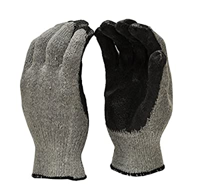 G & F 3108-10 String Knit Palm, Latex Dipped Work Gloves
