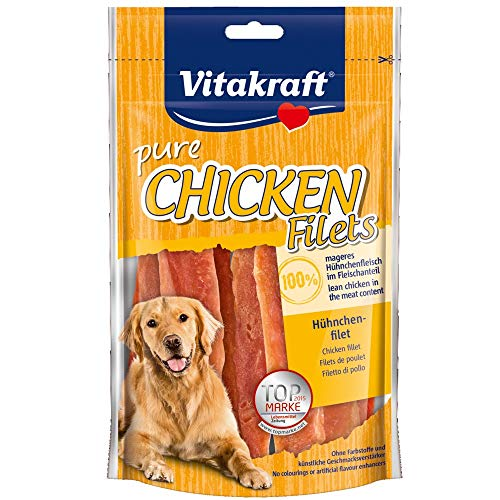 Vitakraft 1571260031 - snack tiras de pollo 100% naturales 80 gr