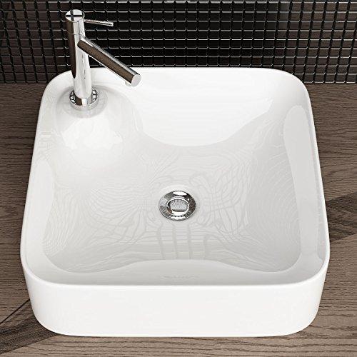 Waschbecken24 Design Keramik AUFSATZWASCHBECKEN WASCHTISCH WASCHSCHALE WASCHPLATZ FÜR Badezimmer GÄSTE WC A282