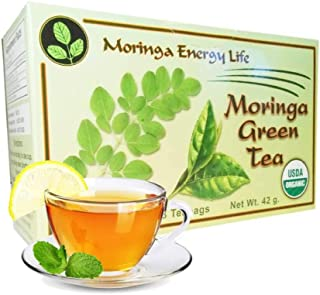 MORINGA GREEN TEA - USDA Organic - Relieving Blend of the Finest Moringa Leaf with Green Tea for Antioxidant Rich & Immune Boosting