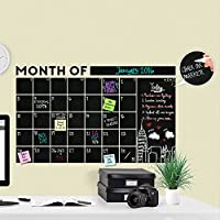 Hugeモダン2017毎月黒板壁デカールCalendar with Memo–A Todeco製品