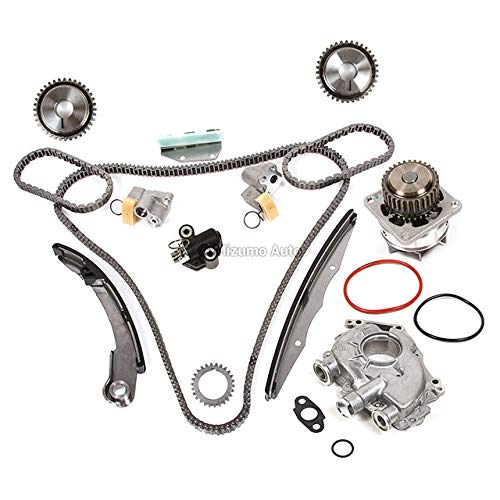 Mizumo Auto MA-4216898936 Timing Chain Kit Water Oil Pump Compatible With/For 05-10 Nissan Frontier Pathfinder VQ40DE