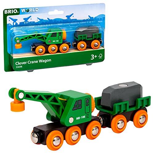 BRIO- Vagone con Gru, 33698