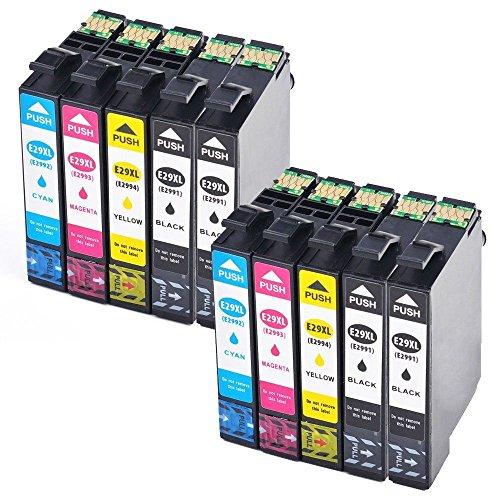 Reemplazo para Epson 29 29XL Cartucho de Tinta Compatible con Epson XP-342 XP-442 XP-235 XP-432 XP-332 XP-335 XP-435 XP-24 XP-445 XP-345 Impresora (4 Negro, 2 Cian, 2 Magenta, 2 Amarillo)