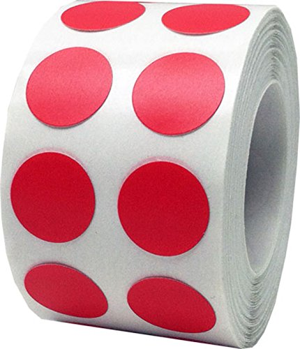 Rote Kreis Aufkleber, 13 mm 1/2 Zoll Punkt Etiketten 1000 Packung