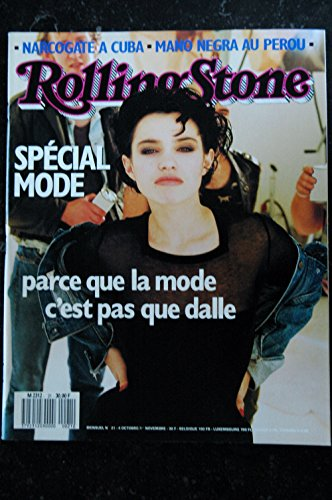 ROLLING STONE 021 N° 21 Béatrice DALLE SPECIAL MODE Mano NEGRA RAY LEMA LANOIS