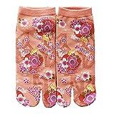 Fancy Pumpkin Calcetines de estilo japonés con sandalias con punta dividida Tabi...