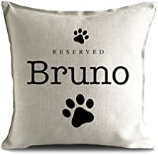 hiusan Personalized Dog Breed reserved Pet name strong Cushion Pillow Cover, paw prints