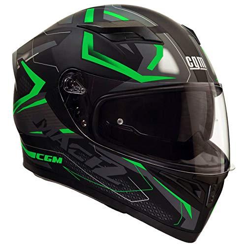 casco moto verde CGM Casco integrale