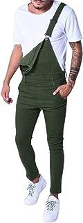 UFACE Dungarees Loose Fit - Dark Blue Men's Denim Bib Trousers - Multicolour - Medium