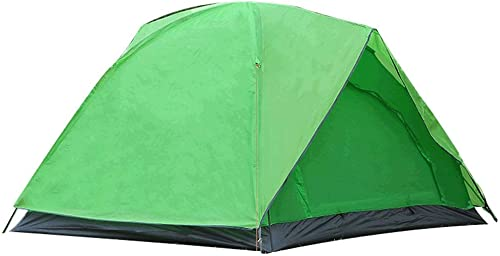 XHCP Tente Anti-Pluie Multi-Personnes Double 3-4 Personnes Camping Fournitures Prougeection UV (Couleur  Vert)
