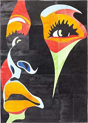 Kare Design tapijt Beauty Pop, zwart tapijt met vrouwenmotief, tapijt voor de woonkamer in de afmetingen 240 x 170 cm (h x b x d) 1x240 x 170 cm
