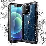 Yokata Funda Impermeable para iPhone 12 (6,1 Pulgadas) Carcasa IP68 Certificado Protección 360 Grados con Protector de Pantalla Anti-Choque Anti-Arañazos Sumergible Resistente Al Agua Carcasa