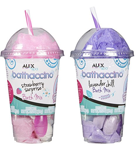 Alex Spa Bathaccino Bath Bombs & Confetti, 2 Pack, Pink & Purple