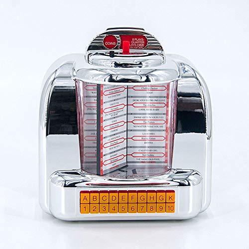 Kabelloser Bluetooth-Stereo-Lautsprecher im Stil der 1950er Jahre, Vintage, American Dinner Jukebox mit FM-Radio