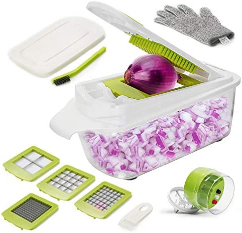 Aieruma Vegetable Chopper 16 in 1 Onion Chopper Food Cutter with Handheld Spiralizer Vegetable product image