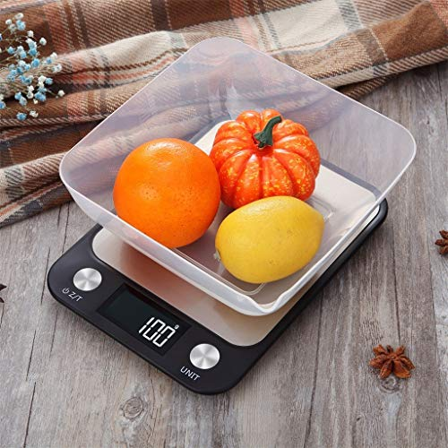 Lukame 10Kg/5Kg Elektronische Waage Hohe Präzision Lcd Küchenwaage Lebensmittelskala Backwaage aus Edelstahl, Präzision 1G (10kg)
