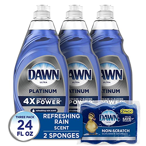 Dawn Dish Soap Platinum Dishwashing Liquid + Non-Scratch...