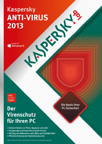 Kaspersky Anti Virus 2013 (DVD-Box)