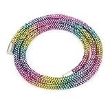 Pulsera De Diamantes De Imitación, Cuerda De Tubo De Perforación Completa, Diamantes De Imitación De Estilo Salvaje, Animados Para La Cena De Empresa Para El Vestido De Novia(colores del arcoiris)