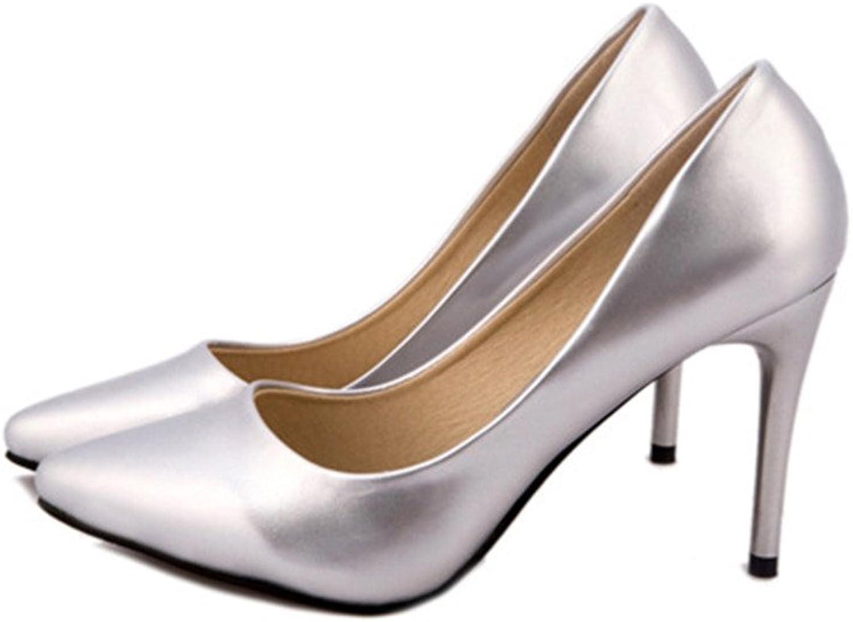 Optimal Women Pointy Toe Faux PU High Heels shoes