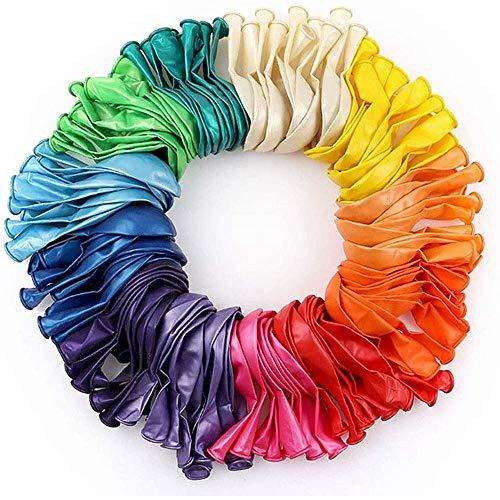 TOPHOPE Bunte Luftballons, 120 Stück Bunte Ballons, Luftballons Geburtstag Bunt für Luft & Helium - Farbige Ballons Latex Partyballon für Geburtstag & Kindergeburtstag, 12 Farben