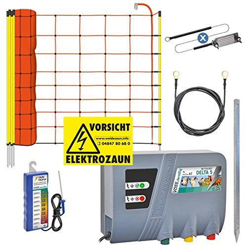 VOSS.farming Komplettes Schaf-Set Schafzaun Elektrozaun Weidezaun Schafnetz Schafzäune Schaf Elektrozaun