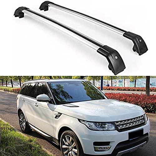 2 Stück Dachträger Crossbar für Range Rover Sport 2014-2019, Aluminium Autodachträger Querträger Schlossstangen Fahrrad Dachträger Halterungsträger Tragfähigkeit Relingträger zubehör