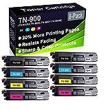 Confezione da 8 cartucce di toner compatibili con stampanti laser HL-L9200 HL-L9300 (alta capacità) per Brother TN-900 (TN-900BK TN-900C TN-900Y TN-900M TN-900 M