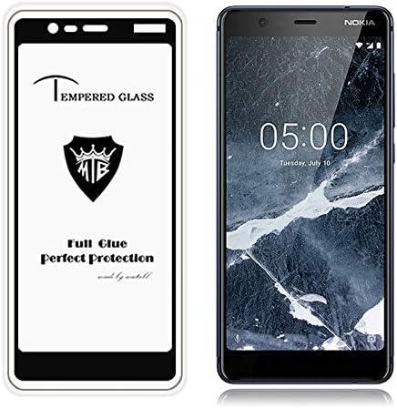 GzPuluz Glass Protector Film 25 PCS Full Screen Full Glue Anti-Fingerprint Tempered Glass Film for Nokia 3.1 Black Color : Black
