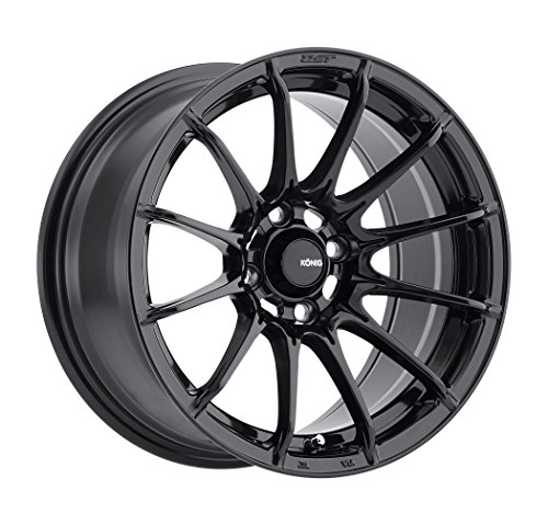 Konig DIAL IN Gloss Black Wheel with Painted Finish (15 x 7. inches /4 x 100 mm, 35 mm Offset)