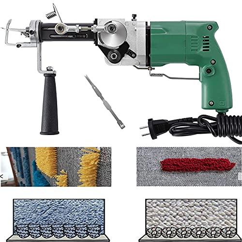 Draagbaar Tapijt Tufting Gun, Elektrisch Tapijt Weven Stroomden (Cut/Loop Stapel) 2,8 Kg, Gemakkelijk Te Dragen En Te…