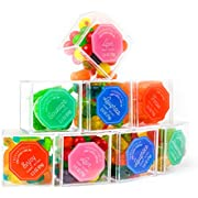 Thoughtfully Gifts, Luxury Gummy Candy Bento Box, Contains 8 Themed Candy Cubes Filled with Gummy Bears, Apple Rings, Gummy Worms, Fruit Sours, and More!