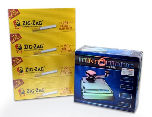Mikromatic DUO - Mini Top-o-Matic Zigarettenstopfmaschine + 1.000 ZIG ZAG Filterhülsen