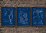 Art Posters Vintage Table Tennis Patent Print Wall Art Set Ping Pong Sports Wall Art Basement Decor Olympics