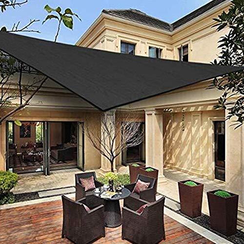YQ QY Triángulo Sun Shade Sail Toldo Toldo 185gsm HDPE 95% UV Bloque para Patio Exterior Jardín Antracita Sunblock Shade Cloth Greenhouse Shade Net (Color : Black Round Wire, Size : 3X3m)