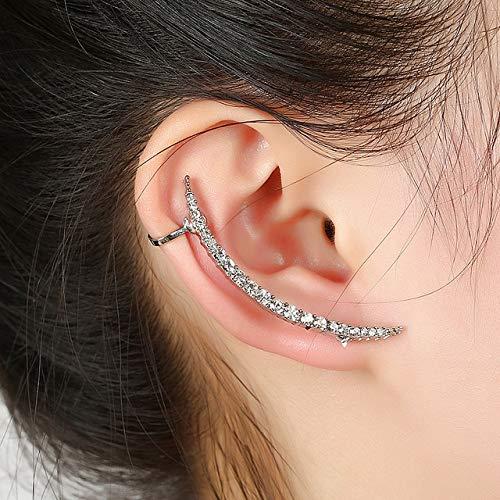 Aretes Anchos Ear Sweep Wrap Silver Gold Ear Climber Gran Ear Clip Cuffs Leafs Pendientes Joyas Para Mujer Ear Clips PendienteOreja Derecha Plata