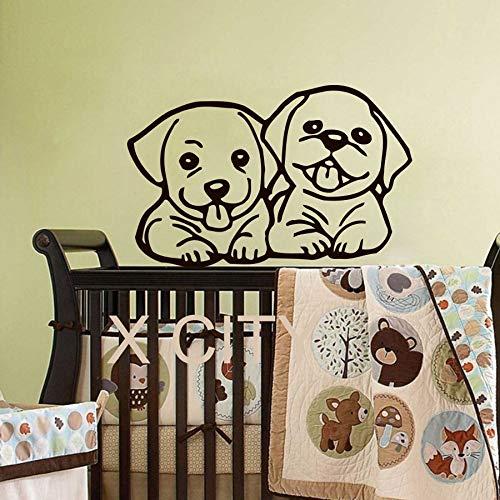 Fototapete niedlichen Hund Baby Kind Vinyl Aufkleber Junge Mädchen Kinderzimmer Schlafzimmer Dekoration Kunst Wandschablone 32x50cm