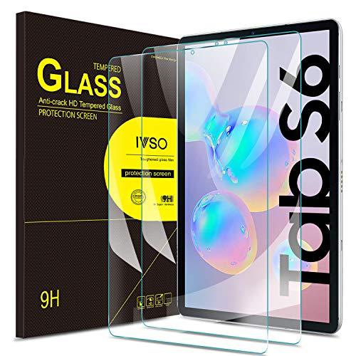 IVSO Bildschirmschutz für Samsung Galaxy TAB S6 10.5 / TAB S5e 2019, 9H Festigkeit, 2.5D, Bildschirmfolie Schutzglas Bildschirmschutz Für Samsung Galaxy Tab S6 SM-T860/T865 10.5 2019, (2 x)
