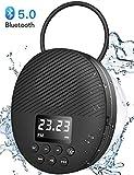 Portable Bluetooth 5.0 Shower Speaker with LED Screen, AGPTEK Waterproof Wireless Speaker