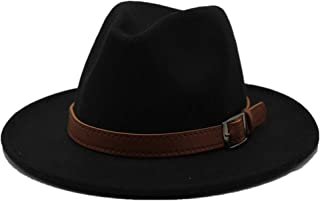 2019 Mens Womens Hats Womens Fashion Wool Polyester Fedora Hat for Women with Leather Belt Autumn Casual Church Hat Winter Jazz Fascinator Hat Size 56-58CM Adjused Size